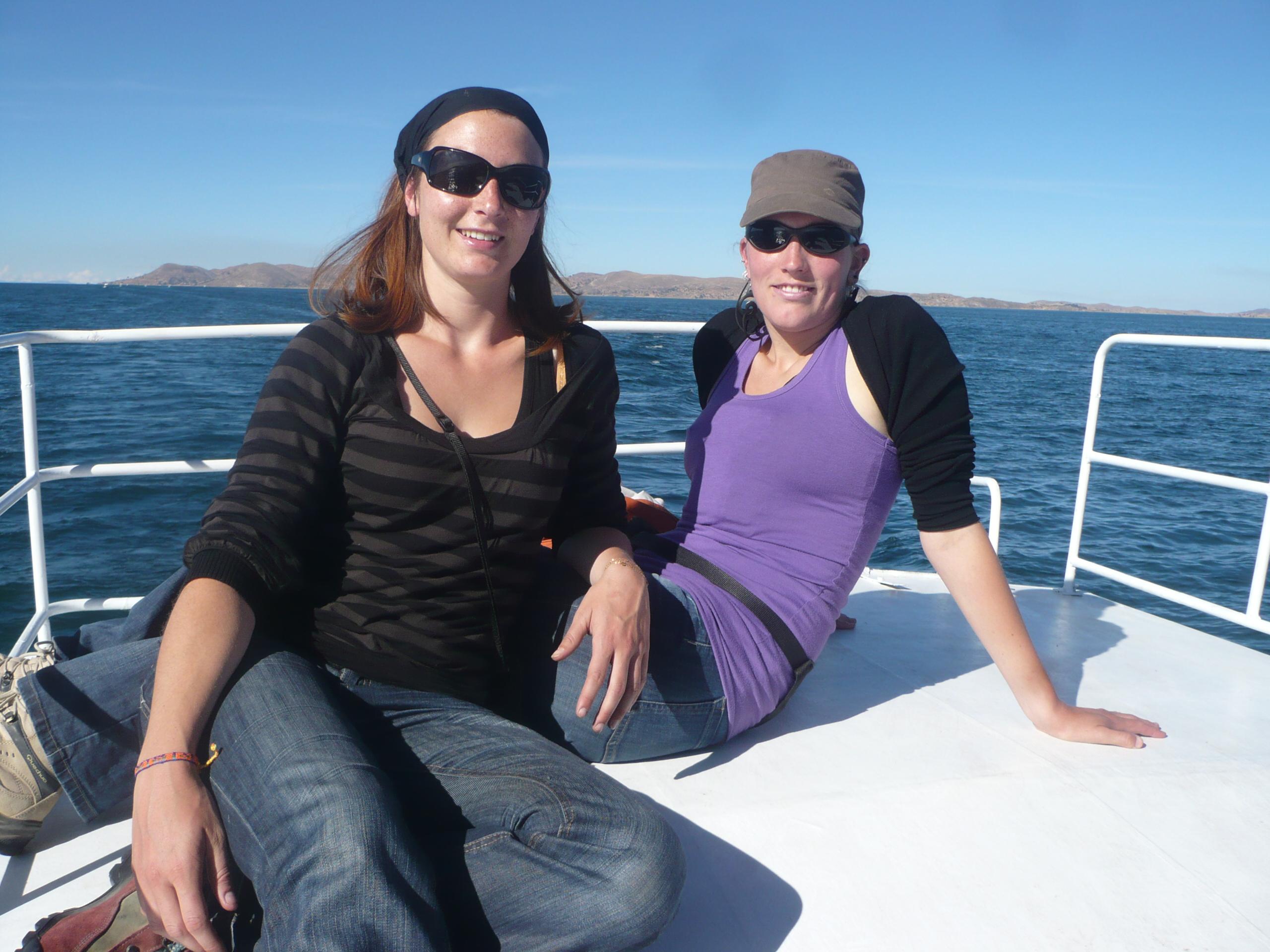sur notre bateau