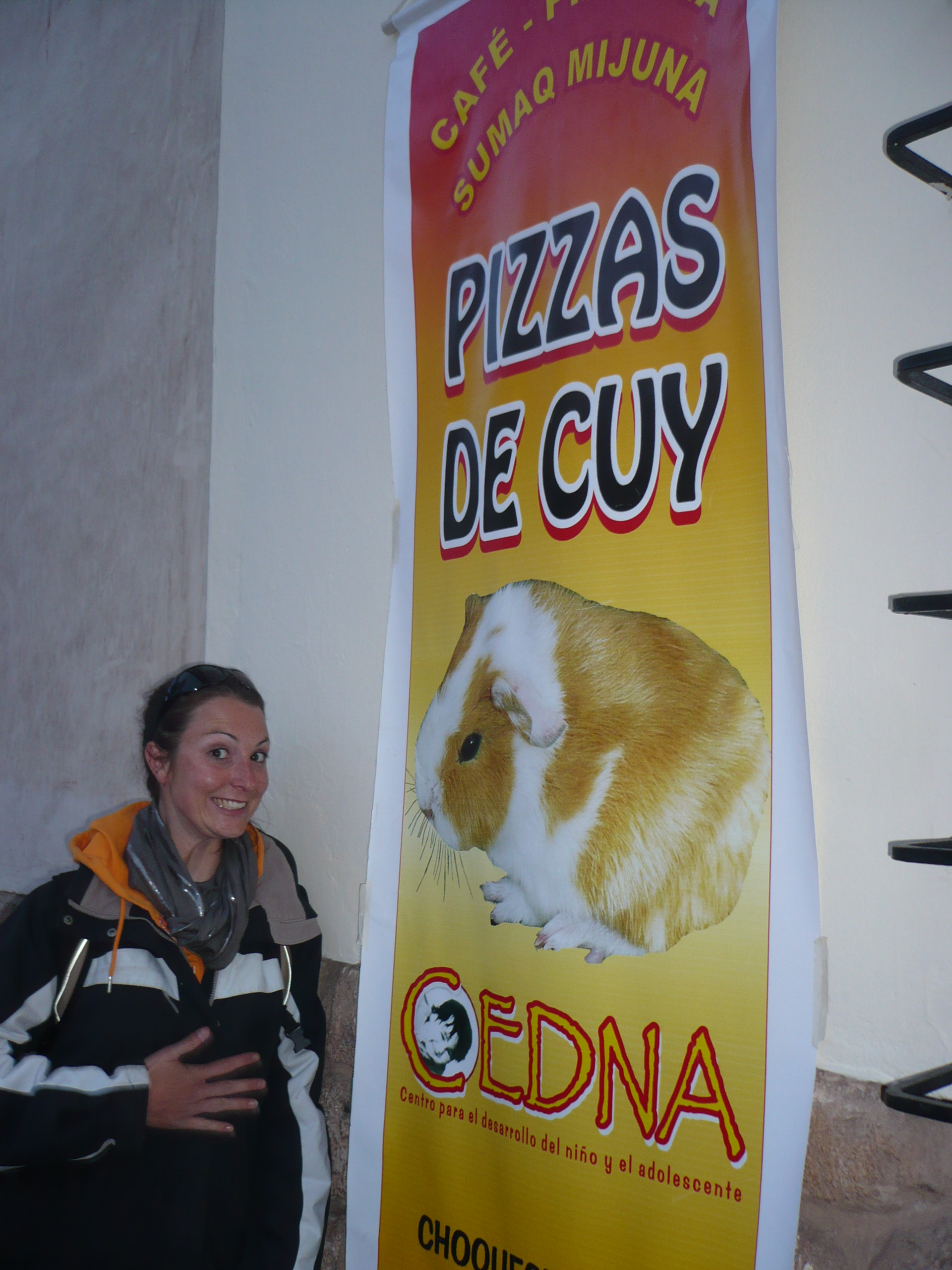 une pizza de Guinea pig?